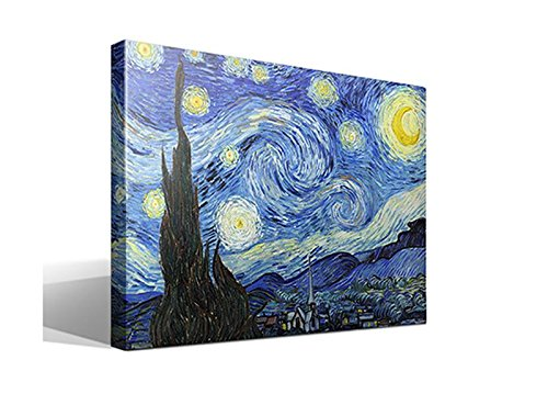 Cuadro Canvas La Noche Estrellada de Vincent Willem Van Gogh - Calidad HQ - 95 x 70