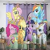 Tablero aislante para sala de estar y sala de estudio Painting my little pony poster cortinas opacas grandes cortinas calientes 84 x 54 pulgadas