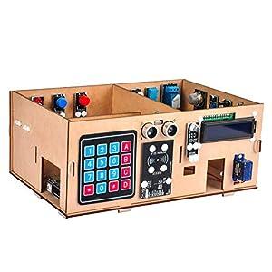 OSOYOO IoT Wooden House Learner Kit for Arduino MEGA2560 | Smart Home Electronic STEM Starter Set | Learning Internet of…