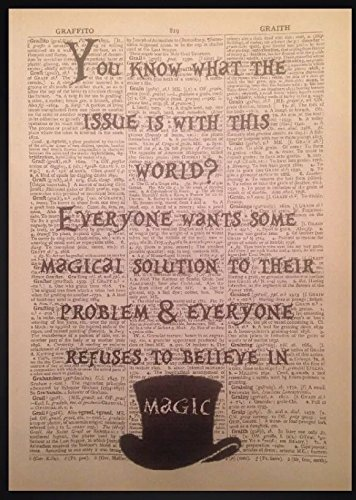 Alice in Wonderland Quote Print Vintage Dictionary Page Picture Art Mad Hatter by Parksmoonprints