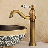 HLSH Lavabo Grifo del Fregadero Mezclador de Agua Grifo de baño Grifo de baño de latón Lavabo con baño de Cristal