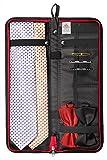 Travel Essentials Travel Tie Case, Black (18' X 6') Cuff Link/Tie Clips Storage. Holds even the longest Ties