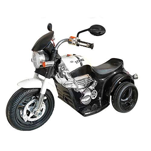 kidfun Moto Elettrica per Bambini 6V Custom Nera e Bianca