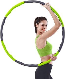 Hula Hoop Professional Avtagbar Wavy Design 8 sektioner Skum Fitness Hoop Justerbar Diameter Bantningsövning Hoola Hoop fö...