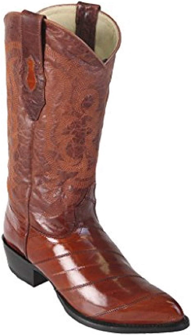 Genuine Ranking TOP11 EEL Skin Grey J-Toe Popular standard Los Cowboy Western Men's Boot Altos