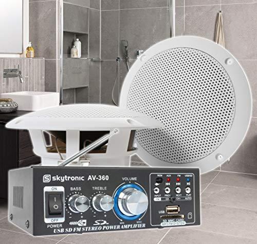 SkyTronic BS06 Waterdichte luidsprekers badkamer 6,5