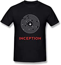 EUEYAIADS Fashion Style Tee Inception Logo Cool Short Sleeve Men's Outdoor Sports T Shirt Black
