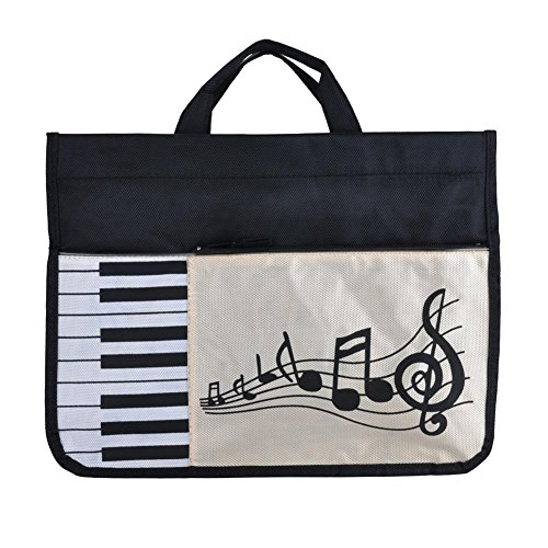 mooderff Musiktasche, Music Bag Duo, Einkaufstasche Aus Dicker Baumwolle, Sheet Music Document Bag Musik Notentasche, 37 cm x 27 cm