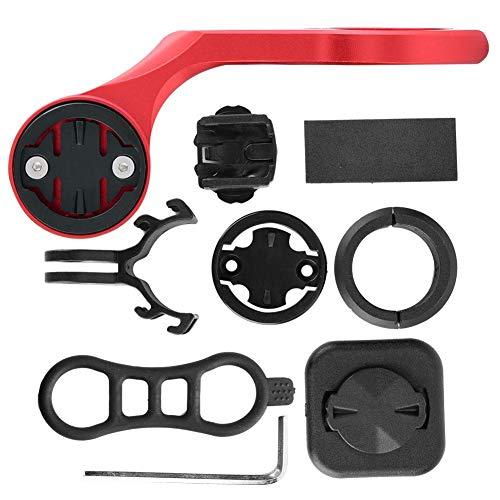 MAGT Soporte de extensión de Manillar de Bicicleta, Bicicleta Duradera Odemeter Adaptador de Montaje de extensión de computadora Soporte de Soporte de cámara para Garmin(Red)