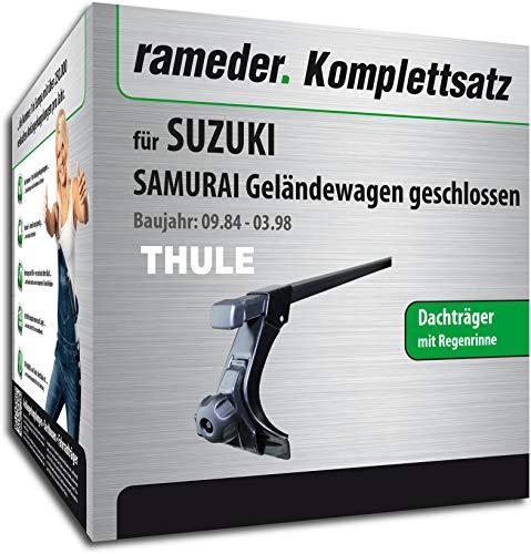 Rameder Komplettsatz, Dachträger SquareBar für Suzuki Samurai Geländewagen geschlossen (115963-01241-2)