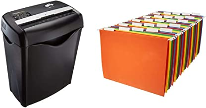 $50 » Amazon Basics 6-Sheet Cross-Cut Paper and Credit Card Home Office Shredder & Hanging Organizer File Folders - Letter Size,...
