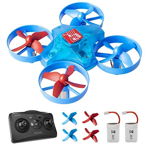 ATOYX Mini Drone para Niños, Drone con Músicas, 3D Flips, Modo sin Cabeza, Estabilización de Altitud, 2 Baterías, Mejor Regalo para Niños y Principiantes