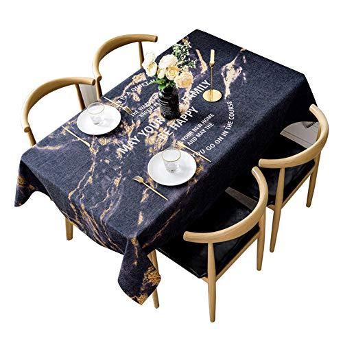 WangXN Keukendoek, waterdicht polyesterweefsel, groot formaat, rechthoekige kerstdecoratie, tafelkleden