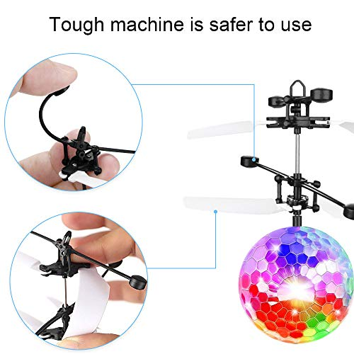 CPSYUB Flying Ball Toys, Flying Spinner, Boys Toys Age 8, RC Helicopter Toys for 5, 6, 7, 8, 9, 10, 11, 12, 13 Year Old Boys Girls Rechargeable Light Up Drone, Easy Indoor Game Flying Drone for Kids