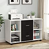 Tribesigns 2 Drawer Wood File Cabinet Letter Size, Large Mobile Lateral Filing Cabinet...