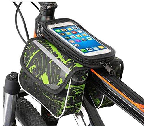 Black Temptation Bike Bag Colorful Cycling Handlebars Forfaits pour 6 Pouces Téléphone Multi Function Bike Accessories#1