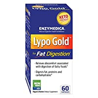 Enzymedica, Lypo Gold, Keto Supplement to Support Fat Digestion, Vegan, Non-GMO, 60 Capsules (60 Servings) (FFP)