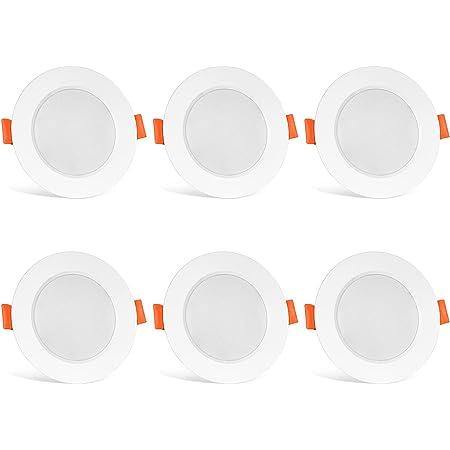 LED Spots Encastrables Blanc Chaud 2700K IP44 de Pour Salle de Bain Plafonnier Encastré 8W AC 85V-265V Spot Bulb(6er Set)