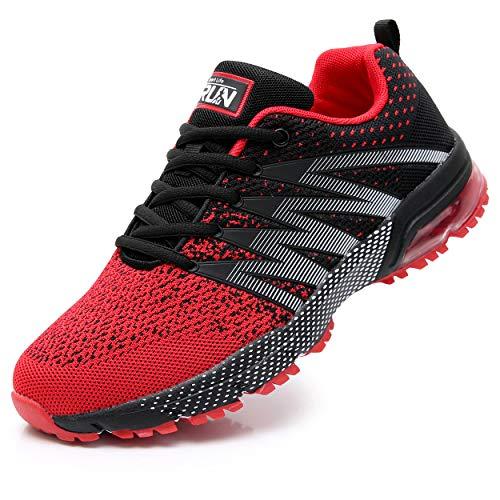 Axcone Damen Herren Sneaker Laufschuhe Air Sportschuhe Kletterschuhe Turnschuhe Running Fitness Sneaker Outdoors Straßenlaufschuhe Sports 8995 RD 40EU