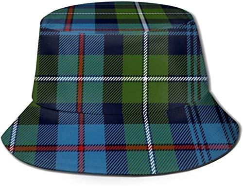 N/A NA Bucket Hat Mackenzie Highlander Tartan Antichi Colori Sun Fisherman cap Outdoor Cappello Protezione UV Cappello Pieghevole Leggero Traspirante Viaggio cap Nero