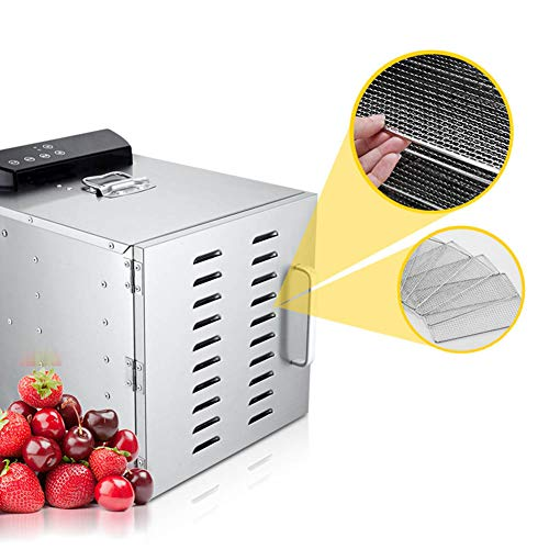 Buy Bargain Electric Food Dehydrator LED Digital Display 6 Layer Stainless Steel Tray Capacity Accur...