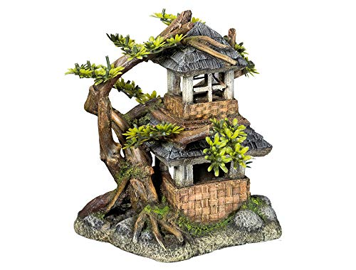Nobby Aqua Ornaments 28644 House with Bonsai with Plants 568 g