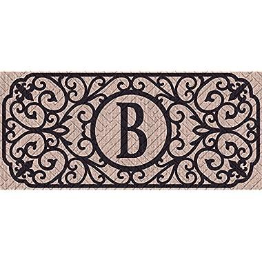 Evergreen Flag 431241BBL Filigree Monogram Letter B Embossed Sassafras Switch Mat