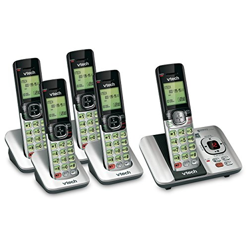 VTech 5 Handset DECT 6.0 Cordless Phone Bundle with (1) CS6529-4 Phone System & (1) CS6509 Handset