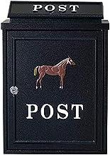FSFF Wandgemonteerde brievenbus voor buiten aluminium afsluitbare weerbestendige postbus 2 kleuren (kleur: A)