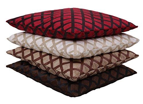 Kussensloop Karo Kussensloop Decoratieve Kussen in 40x40 50x50 o. 60 x 60 cm kleurkeuze #1154 40x40 bordeaux