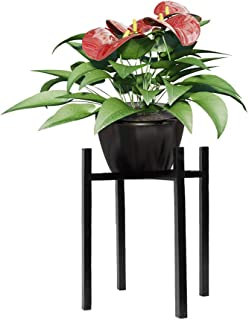 Juesi Metal Plant Stand - Mid Century Modern 15.7 Inch Tall Flower Pot Stands Indoor Outdoor Metal Potted Plant Holder, Plant Display Rack Fits Up to 10 Inch Planter