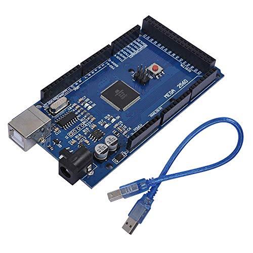 ZHITING MEGA 2560 R3-Karte, Mega2560 REV3 (ATmega2560-16AU CH340G) Mega 2560 R3-kompatible Karten für Arduino UNO mit USB-Kabel