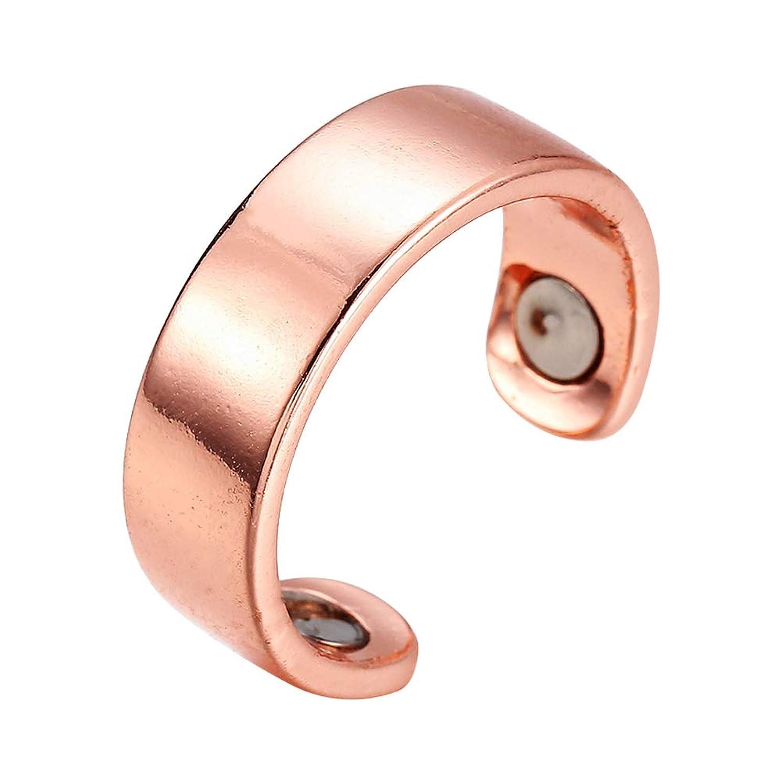 無許可森林ビジネスHEALIFTY 指圧マッサージ指輪防止いびきリング息切れ指圧治療ヘルスケア磁気療法健康的な睡眠リング開環(釉、ローズゴールデン)