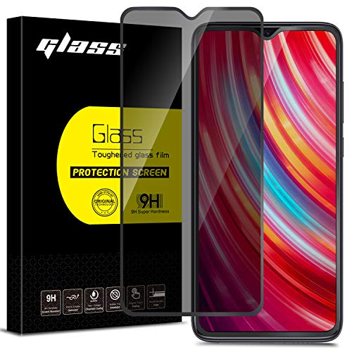 """Anbzsign [2 Pack]Xiaomi Redmi Note 8 Pro 6.53"""" Privacy Screen Protector, [Full Coverage] [Case Friendly] [Super Clear] Anti-Spy 9H Hardness Tempered Glass"""