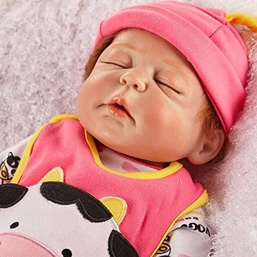 Lifelike Realistic Saskia Reborn Baby Dolls,23 Inch Sleeping Baby Doll Reborn Silicone Vinyl Full Body Princess Lifelike Dolls Kids Birthday Xmas Gift LATT LIV