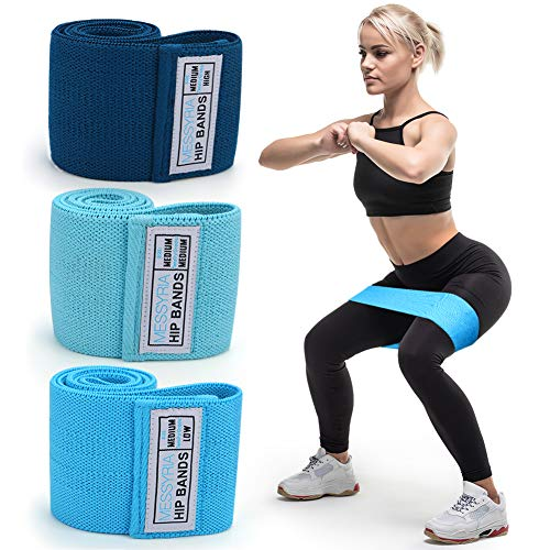 Resistance Band Exercise Loop, Merssyria Booty Resistance Bands for Legs and Butt, Non Slip Hip Workout Circle Bands Set for Women (Medium)