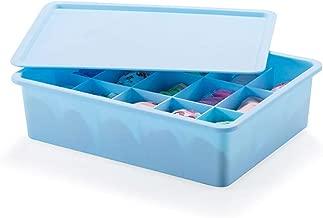 ADTALA 15 Compartment Plastic Storage Box Drawer Organizer for Inner wear Clothing Underwear Bra Socks Tie Jewelry Cosmetic Storage Box Organizer