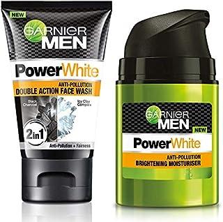 Garnier Men Power White Anti-Pollution Double Action Facewash, 100gm And Garnier Men PowerWhite Anti-Pollution Brightening...