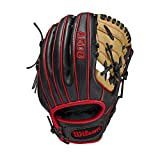 Wilson A500 Baseball 10.5' - Right Hand Throw,10.5',Black, Large (WBW100143105)