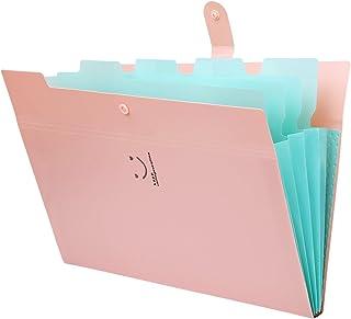 Trieur à Soufflets Classeur Rangement Papier Chemise Trieur Plastique A4 Documents Extensible Avec Fermeture à L'élastiqu...