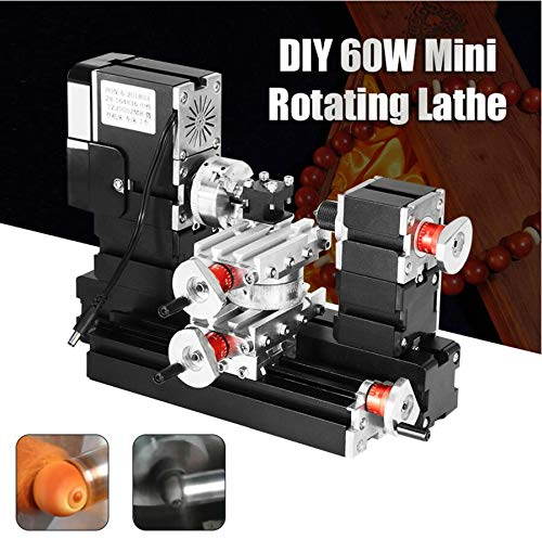 Purchase Mini DIY tour wood shaft wood lathe milling machine tool manufacturing model woodworking tools new arrival 2019