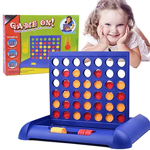 Xiton Spiel Vier in Einer Reihe Spiel Klassischer Kabriolett Brettspiel Spielzeug Für Interaktive Spiele Zwei-Spieler-Spiele (1 Set)