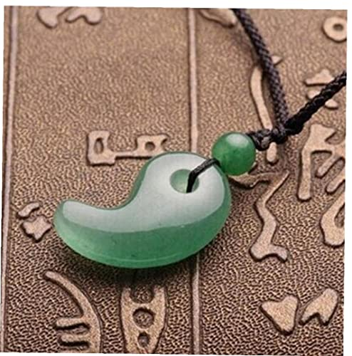 Crytral Natural para Mujeres Pendientes del Collar De Yin Yang Peces De Hebilla De Media Colgante De Señoras De Cadena