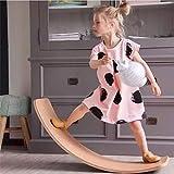 L@CR Kinder-Holzbrett, Montessori-Holzbrett | Curved Swing Schaukelbrett | Wobble Board, Blance Traning