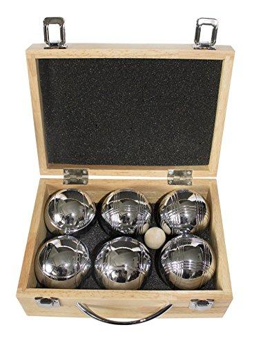 La Franc–Juego de bolas de petanca 6bolas en estuche de madera Leisure VI