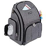 Safety 1st Back Pack Mochila de Pañales Gran Capacidad y Versátil, Bolsa de Pañales para Bebés,...