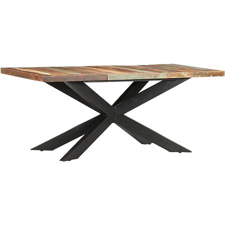 vidaXL Table de Salle à Manger Table à Dîner Table de Cuisine Table de Repas Meuble à Manger Maison Intérieur 180x90x76 cm Bois Massif de Récupération