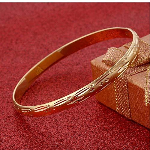 NCDFH Moda Que se Puede Abrir Dubai, brazaletes de Color Dorado, Mujeres, Hombres, joyería Africana para niñas de Etiopía