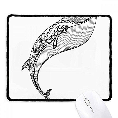 DIYthinker blauwe walvis grote sterke anti-slip muismat spel office zwart Titched randen gift