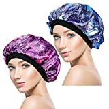 2 Pieces Soft Sleep Cap – Night Satin Bonnet with Wide Premium Elastic Band for Women